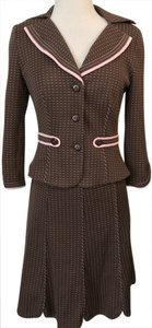 Kay Unger Kay Unger Pink & Brown Skirt Suit
