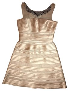 BCBGMAXAZRIA Crystal Sparkle Rhinestones Mesh Dress