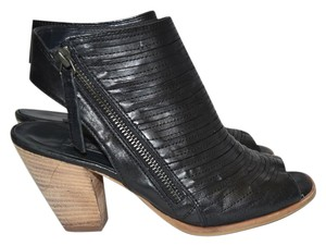 Paul Green Bootie Wedge BLACK LEATHER Sandals