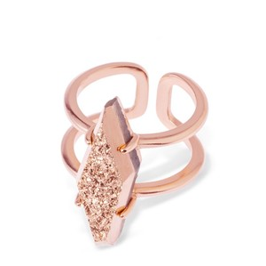 Kendra Scott Kendra Scott Boyd Cocktail Ring in Rose Gold Drusy