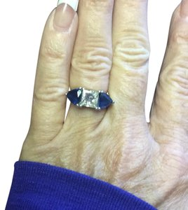 Other Platinum Diamond and Sapphire ring