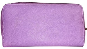 Other Light purple lilac lavender zip around wallet new