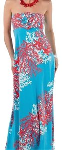Blue and Red Maxi Dress by Lilly Pulitzer