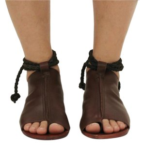 Free People Festival Boho Eclectic Leather Brown Sandals