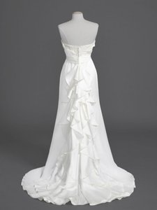 David's Bridal Strapless Mikado Slim Fit & Flare Wedding Dress