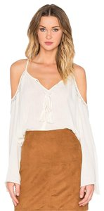 Bishop + Young Cold Peasant Top Ivory
