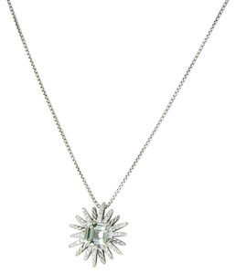 David Yurman Starburst Necklace 23mm Prasiolite Diamond 0.36cts 925