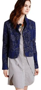 Anthropologie Knitted Knotted Jacquard Blue, black Jacket