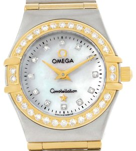 Omega Omega Constellation My Choice Mini Steel Gold Diamond Watch 1267.75.00