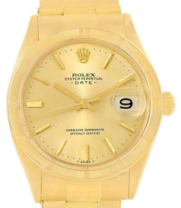 Rolex Rolex Date 18K Yellow Gold Vintage Mens Watch 1500
