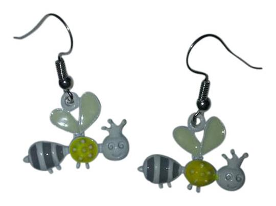 Preload https://img-static.tradesy.com/item/20725970/white-and-yellow-sterling-silver-flying-queen-bee-earrings-0-1-540-540.jpg