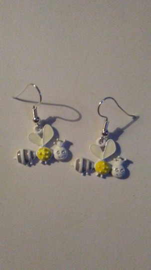 Other Sterling Silver Flying Queen Bee Earrings