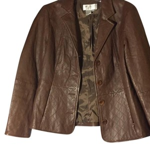 Worth Brown Leather Jacket