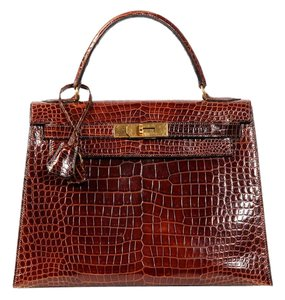 Hermès Hr.k0921.02 Brown Vintage Gold Ghw Satchel
