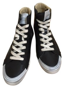 Frye Sneakers High Tops Vintage Leather Black Athletic