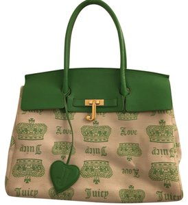 Juicy Couture Green and cream Travel Bag