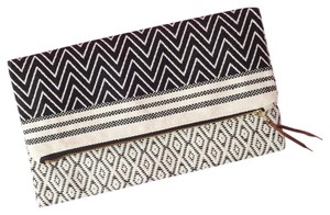 TRIBE ALIVE Fold Over Valentine Gift Gift black & white Clutch