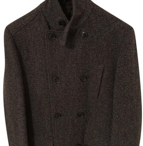 Ben Sherman Gray Peacoat Military Jacket