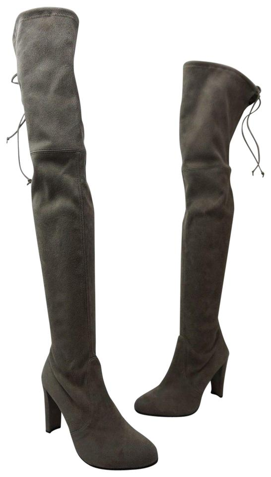 0fd8711fd44 Stuart Weitzman Grey Highland Over The Knee Topo Suede Boots Booties. Size  US  8.5 Regular (M ...