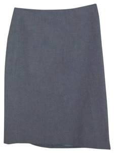 Michael Kors Straight Fully Lined Skirt gray
