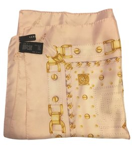 Versace Pale Pink and Gold Silk Scarf