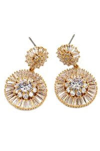Ocean Fashion shining circle crystal gold earrings