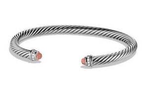 David Yurman DAVID YURMAN CLASSIC CABLE MORGANITE and DIAMONDS 5 mm BRACELET