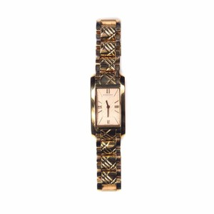 Burberry WATCH - GOLD PLAID STAINLESS STEEL BRACELET