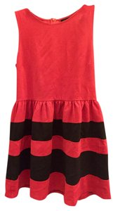BCBGMAXAZRIA short dress Red and black on Tradesy