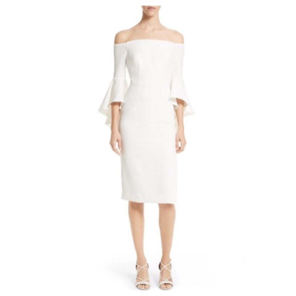 MILLY White Selena Cady Mid-length Cocktail Dress Size 0 (XS) - Tradesy