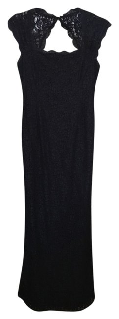 Preload https://img-static.tradesy.com/item/20726843/adrianna-papell-navy-lace-open-long-formal-dress-size-petite-4-s-0-1-650-650.jpg