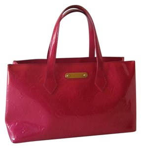 Louis Vuitton Wilshire Monogram Leather Tote in RED/RASBERRY