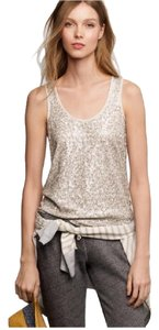 J.Crew Top silver & ivory