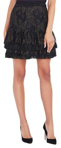 Elie Tahari Mini Skirt Black and Gold