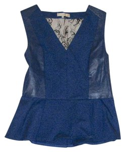FATE Leather Lace Top Navy