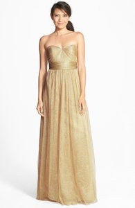 Jenny Yoo Gold Metallic Tulle Annabelle Formal Bridesmaid/Mob Dress Size 18 (XL, Plus 0x)