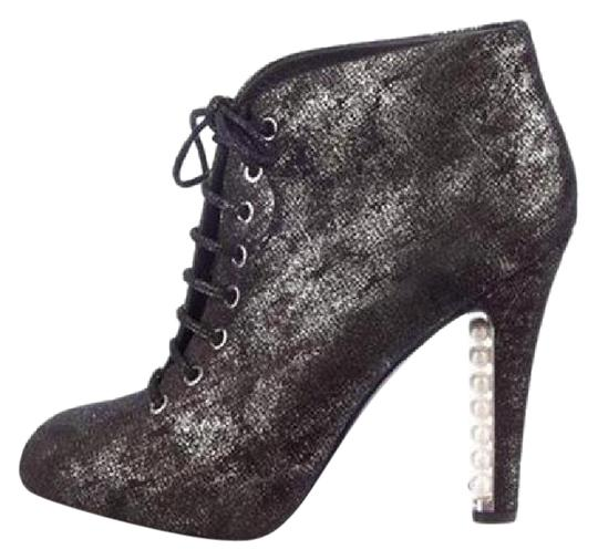 Preload https://img-static.tradesy.com/item/20727244/chanel-blacksilver-suede-lace-up-pearl-heel-ankle-375-bootsbooties-size-us-75-0-1-540-540.jpg
