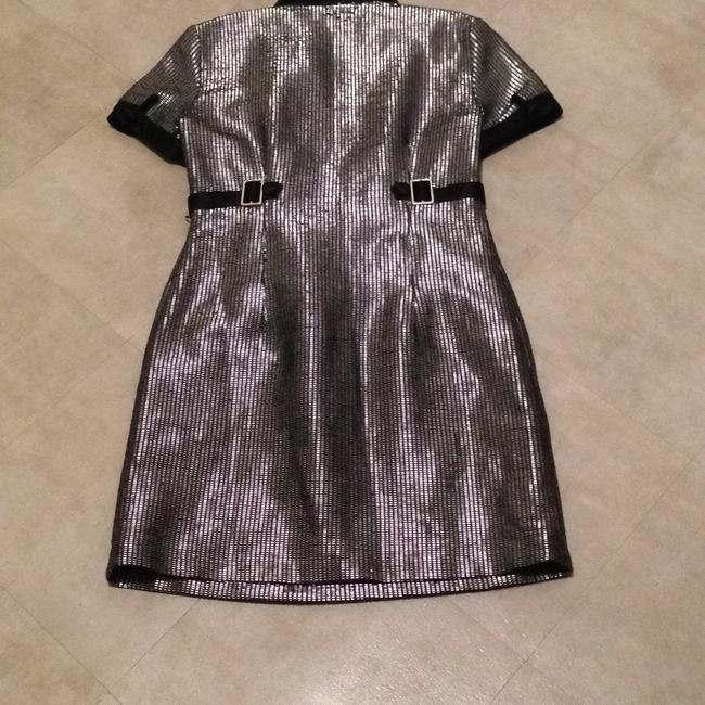 adampluseve short dress black & silver on Tradesy