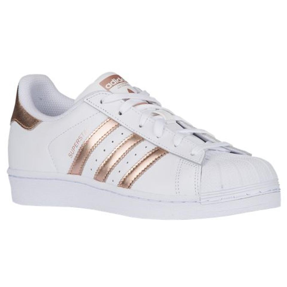 afe419469e8 adidas White Metallic Copper Women s Superstar Sneakers Shell Toe Rose Gold  Sneakers