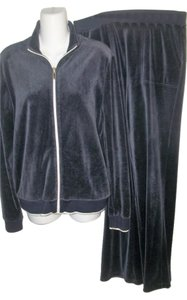 Ralph Lauren Vintage 90's Blue Velour Warm-Up/Workout Set