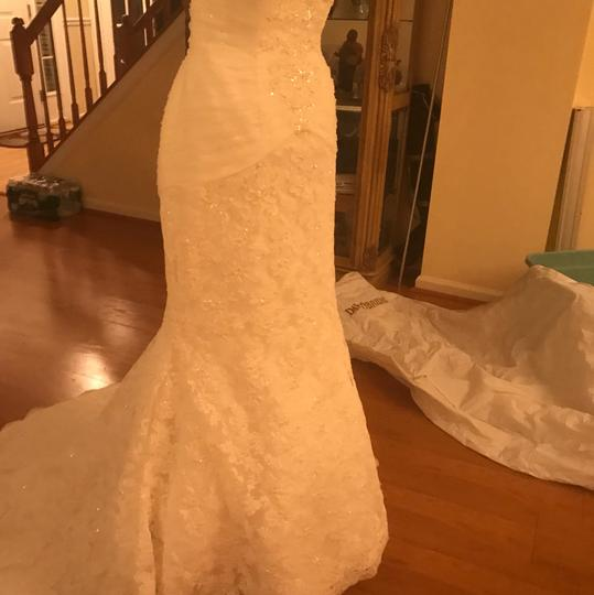 Monique Luo Ivory Bodice: Tulle New with Tags Bridal Gown Style Crl546 (Un-altered) Formal Wedding Dress Size 8 (M)
