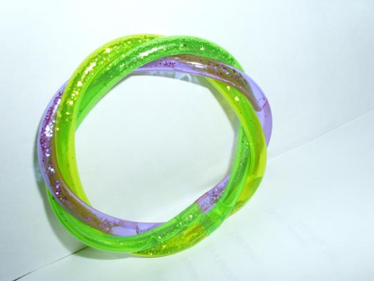 Other metallic sparkle glitter trio braid twist bangle bracelet teens kids