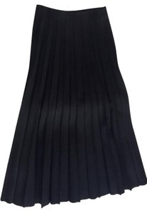 Marc Jacobs Pleated Full Length Maxi Skirt Black
