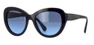 Chanel NEW Chanel 5346 Signature Butterfly Navy Tweed Sunglasses