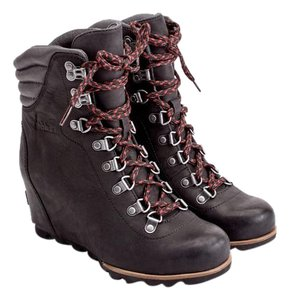 Sorel Wedge Ankle Winter Black Boots