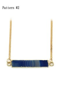 Ocean Fashion Fashion natural stone golden necklace Pattern #2