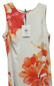 Orange, Red, White Maxi Dress by Calvin Klein floral print dress