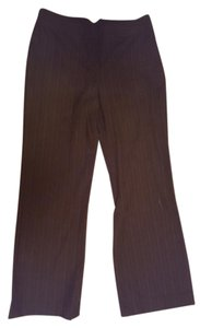 Womyn Trouser Pants Brown (small strips of orange)