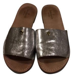 Kate Spade Silver, brown Sandals