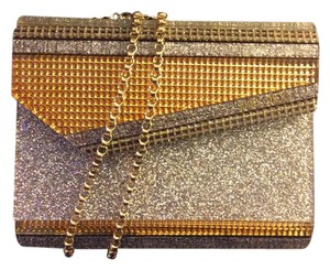 Jimmy Choo Arylic Gold/Silver Glitter Clutch